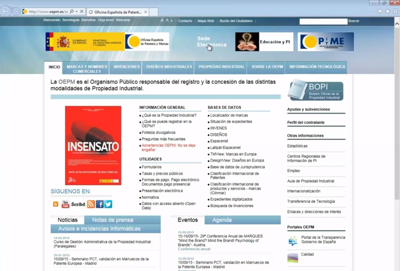 Registrar un diseño industrial en España - Accedemos a la Sede Electrónica de la OEPM