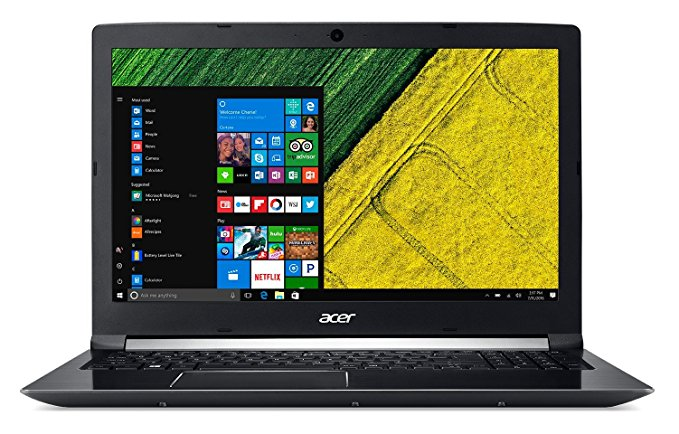 "cer Aspire 7 A715-71G - Ordenador portátil 15.6"" FHD (Intel Core i7-7700HQ, 8 GB de RAM, HDD de 1 TB y 128 GB SSD, Nvidia Geforce GTX1050 de 2 GB, Windows 10 Home) Negro - Teclado QWERTY Español"