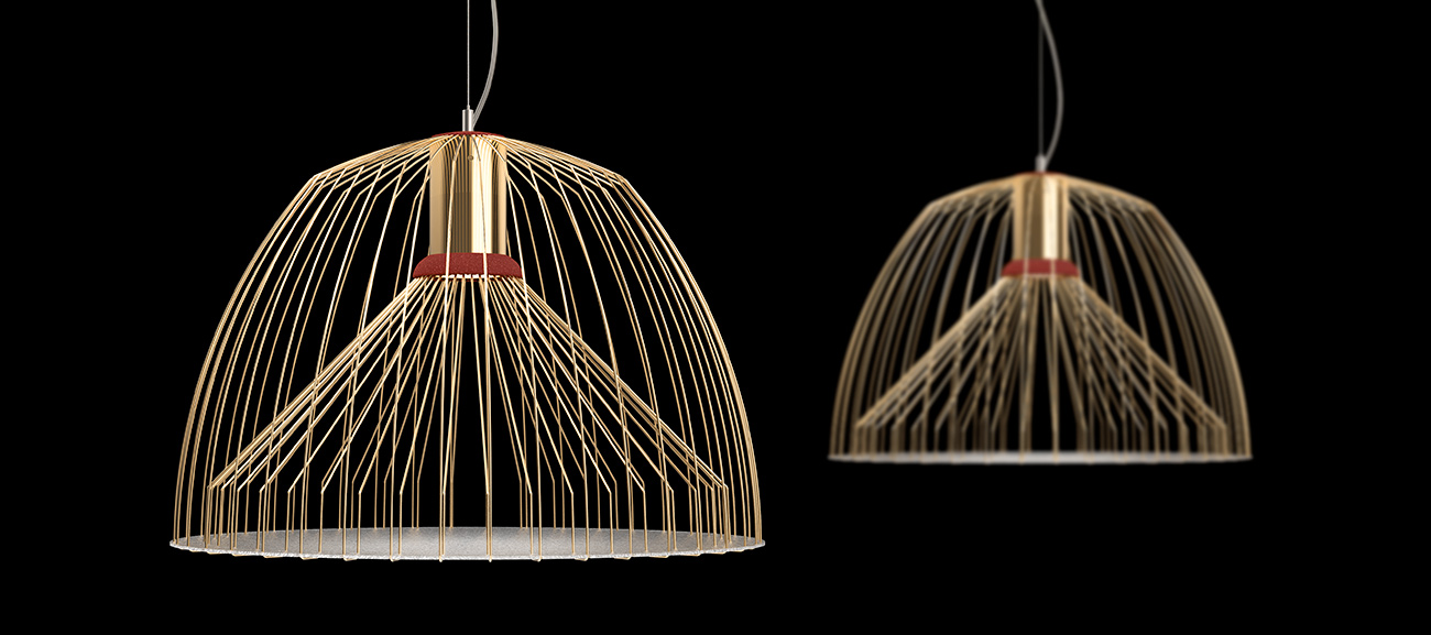Daucus suspension lamp by Sergi Ventura
