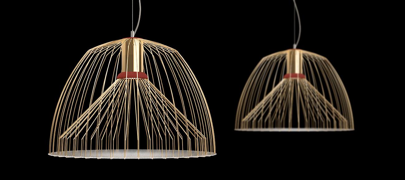 Daucus suspension lamp by Sergi Ventura