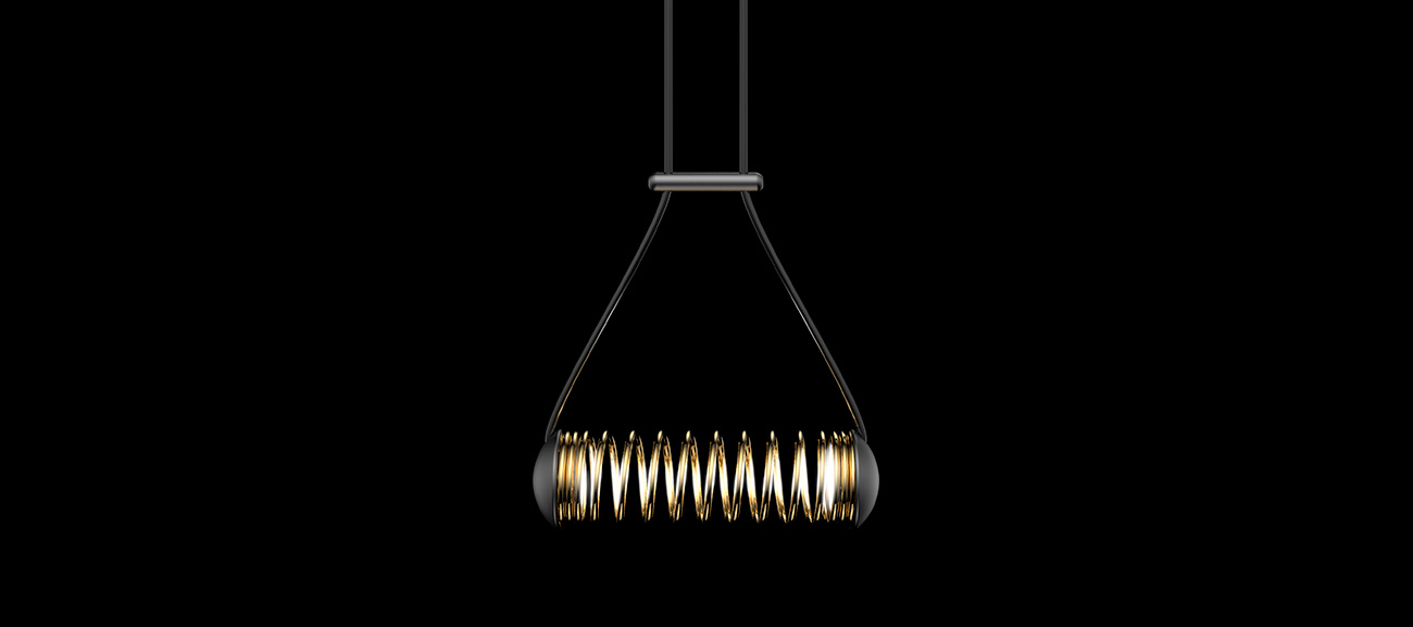 Edipunk suspension lamp by Sergi Ventura
