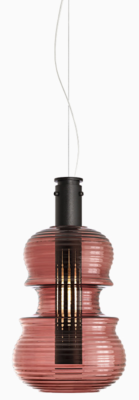 Light 'n' Roll by Sergi Ventura - Red stradivarius model of the Light and Roll suspension lamp